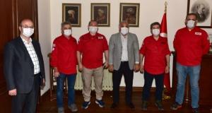 Akut Gönüllüleri Başkan Zorluoğlu'nu ziyaret etti