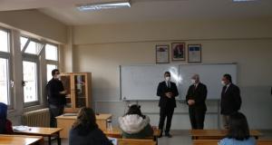 Kaymakam Çiçek FSM ve Pnaraltı Ortaokullarını ziyaret etti