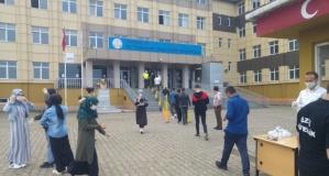 Of'ta LGS sınavı sorunsuz tamamlandı