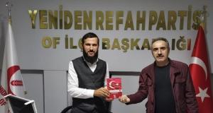 Of Medya Derneğinden Yeniden Refah Partisine hayırlı olsun ziyareti