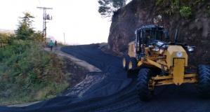 BBüyükşehir'den Sugeldi'de yol bakım çalışması devam ediyor