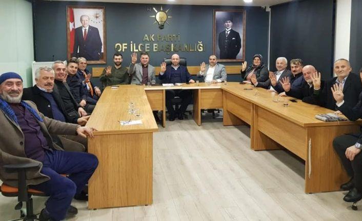 AK Parti'nin Of'taki üye sayısı 11 bini aştı