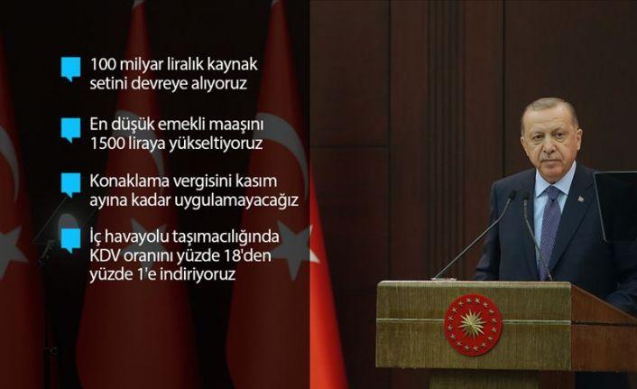 Cumhurbaşkanı Erdoğan'dan Kovid-19'a 19 Ekonomik tedbir paketi