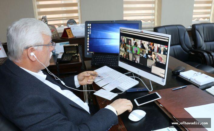 Milli Eğitim Müdürleri video konferans toplantıda buluştu