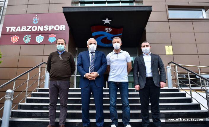 Başkan Zorluoğlu'ndan Trabzonspor'a moral ziyareti