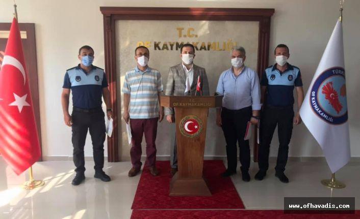 Kaymakam Fırat'tan belediye vefa grubuna başarı belgesi