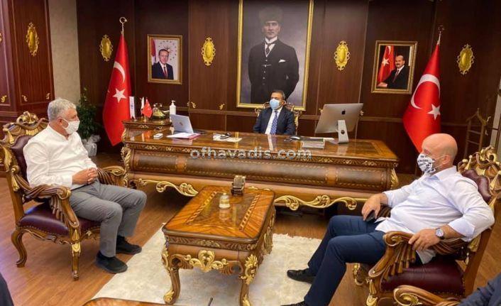 Başkanlar Sarıalioğlu ve Terzioğlu'ndan Kaymakam Çiçek'e ziyaret