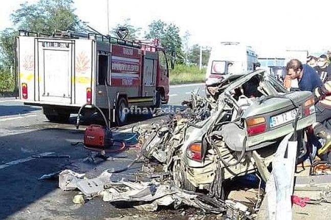 Sürmene'deki feci kazada Hakan Çakıroğlu vefat etti