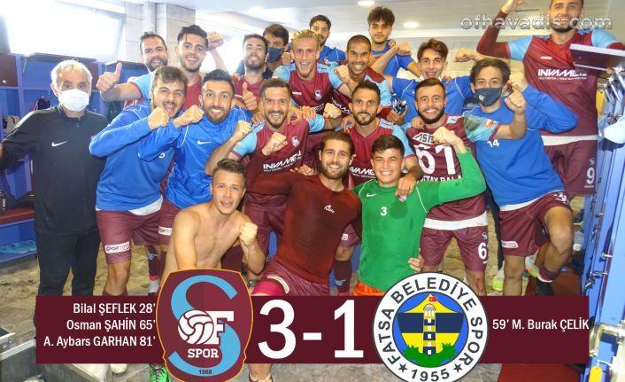 Ofspor koronadan Fatsa Belediyespor galibiyetiyle döndü