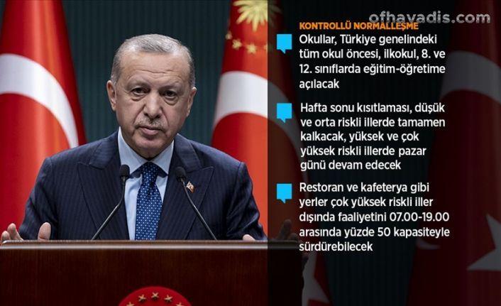 Cumhurbaşkanı Erdoğan'dan Yeni kontrollü normalleşme süreci