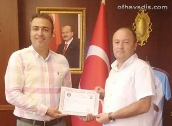 Polis Memuru Ali Dündar Of'a veda etti