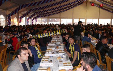 Ağrılı taraftarlar Büyükşehir'in iftar çadırında oruç açtı