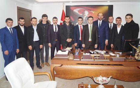 AK Parti Gençlik Kollarından Kaymakam Fırat'a ziyaret
