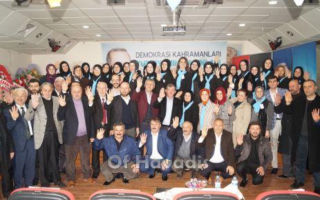 Ak Parti Of İlçe Kadın Kollarında Okutan yeniden başkan