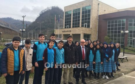 Ali Yeşilyurt İmam Hatipli öğrenciler Of TEF'i ziyaret etti