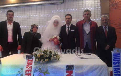 Alkan ve Uludoğan ailelerinin mutlu günü