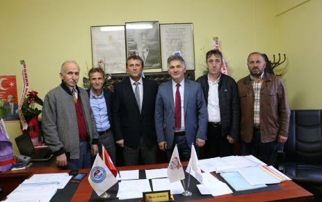 Amatör Kulüp Başkanlarından Özcan Demirel'e ziyaret