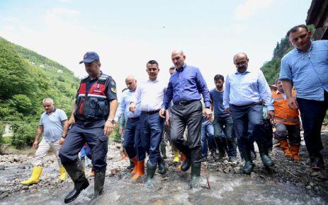 Araklı'da meydana gelen sel felaketinde 7 kişi hayatını kaybetti