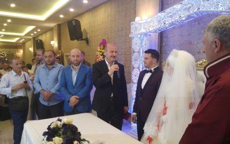 Bakan Soylu Esra ile Gökhan'ın nikah şahidi oldu