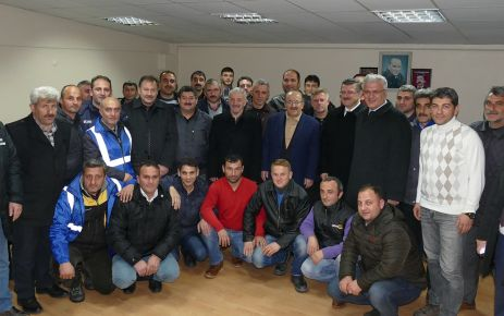 Başkan Gümrükçüoğlu kar mücadele ekipleriyle