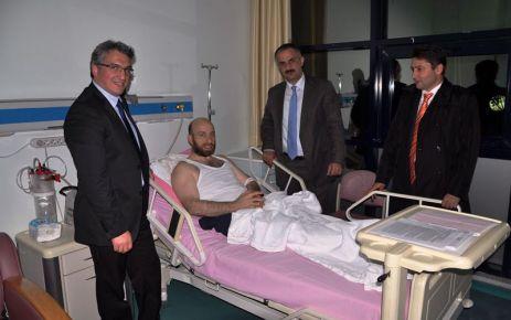 Başkan Saral'dan Terzioğlu'na geçmiş olsun ziyareti