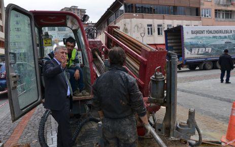 Başkan Sarıalioğlu doğalgaz çalışmalarını yerinde inceledi
