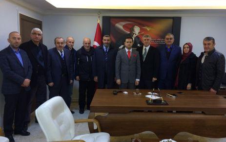 Başkan ve Meclis Üyelerinden Kaymakam Fırat'a ziyaret