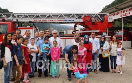 Beyaz Umut'lu öğrencilerden İtfaiye ve Jandarma'ya ziyaret
