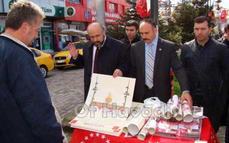 BTP'li Şahin'den Of'a Kelime-i Tevhit Anıtı