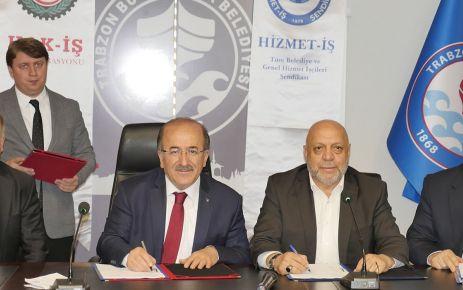 Büyükşehir Belediyesinde Toplu İş Sözleşmesi imzalandı