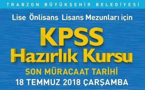 Büyükşehir Belediyesi'nden KPSS kursu