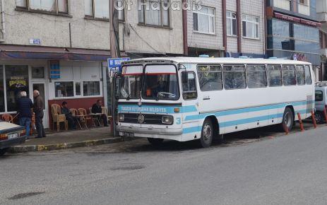 Büyükşehir'den Of'a eski otobüse Oflulardan tepki