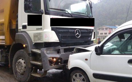 Cumapazarı'nda kaza ucuz atlatıldı