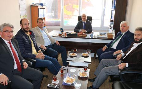 Demirel ve Kabahasanoğlu'ndan Of Medya Derneğine ziyaret