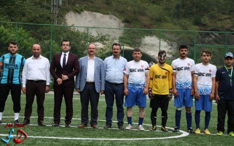 Dernekpazarı'nda futbol heyecanı