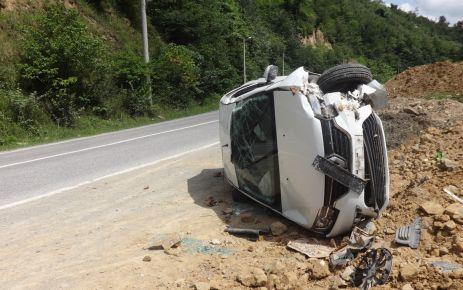 Dernekpazarı'nda kaza ucuz atlatıldı