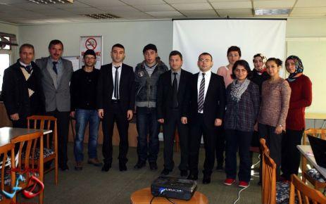 Dernekpazarı'nda projecilere seminer