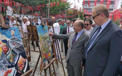 Direnişten Dirilişe 15 Temmuz Resim Sergisi açıldı