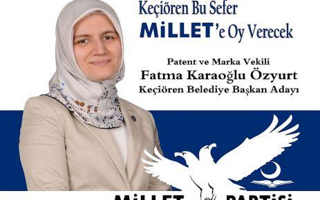 Fatma Karaoğlu Özyurt, Keçiören'e Başkan Adayı oldu