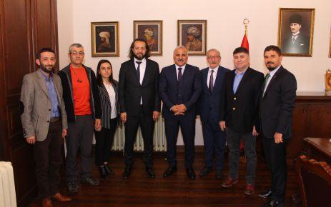 Gazeteciler Cemiyeti'nden Başkan Zorluoğlu'na tebrik ziyareti