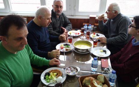 Günebakanlılar kahvaltıda buluştu