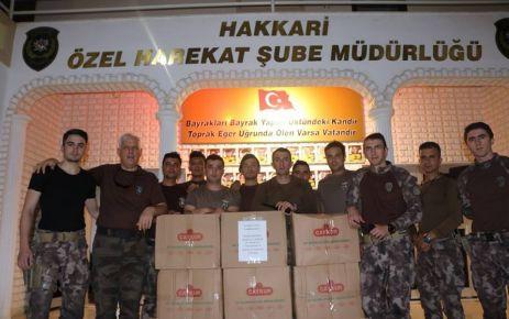Hakkari Özel Harekat'tan Karaca Çay Fabrikasına teşekkür