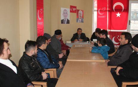 Hayrat'ın Saadet Başkanı Yıldız'dan Zeytin Dalı'na destek