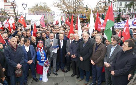 İsrail ve ABD Trabzon'da protesto edildi