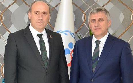 Kaymakam Arslan ve Başkan Sarıalioğlu'ndan Öztürk'e ziyaret