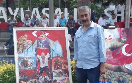 Küçükibrahimoğlu 15 Temmuz resim yarışmasında ikinci