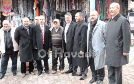 MHP'li Örs ve Çakıroğlu'ndan esnafa ziyaret