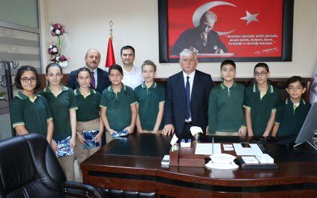 Mikdat Sarıalioğlu öğrencilerinden Kabahasanoğlu'na ziyaret