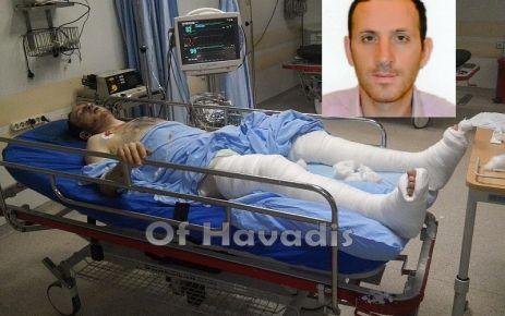 Motosikletiyle kaza geçiren Murat Öztürk ağır yaralandı