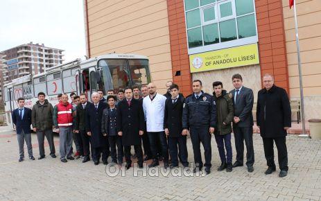 Of eğitim camiasından Mehmetçiğe kan bağışı